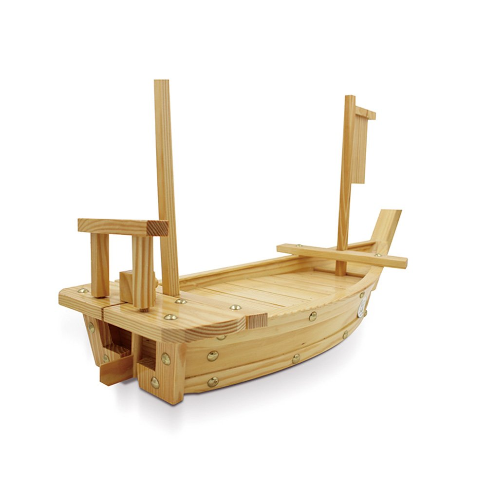 Wooden Sushi Tray Serving Boat Plate Large Size 50cm For RestaurantWooden Sushi Tray Serving Boat Plate Large Size 50cm For Restaurant