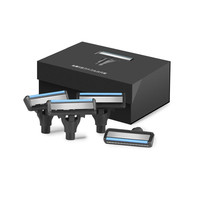4pcs Cutter Heads Sharp Shavor Dry Wet Shaving Washable Blade Manual Beard Shaving Magnetic Replaceable Shaver Blade Clip
