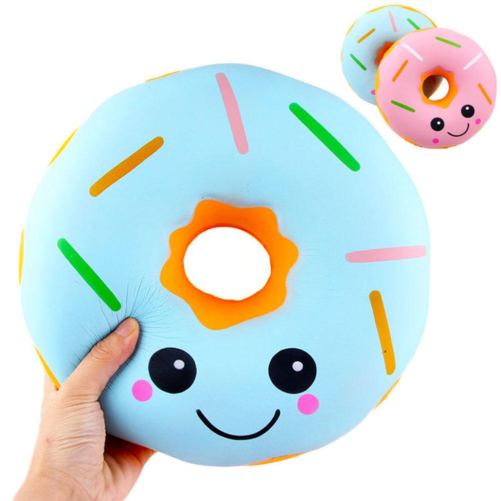 10 Inch Big Expressiones Donut Slow Rising Toy Children/Adult Vent Soft Squeeze Stress Relieve Toy Home Decoration
