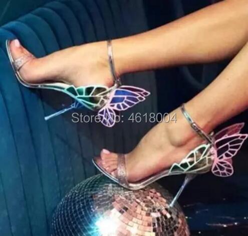 Celebridad 2 Correa Mariposa De Kalmall Zapatos Mixto Sandalias Vestido Alas Hebilla Ángel Punta 1 Abierta Gladiador Color color AUUSTxd