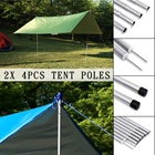 55cm Tent Pole Camping Adjustable Awning Rod Universal Tent Rods Supporting Iron Zinc Plating Tent Replacement Kit Sun Shelter