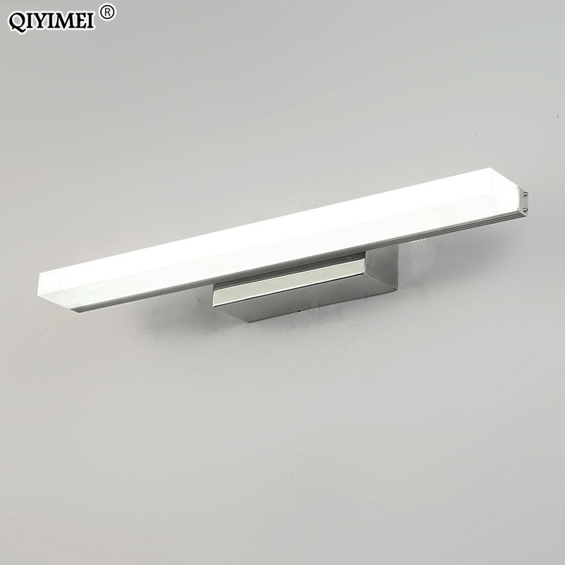 Image 3 - led mirror light stainless steel AC85 265V Modern Wall lamp bathroom lights 40cm 60cm 80cm 100cm 120cm wall sconces apliques-in LED Indoor Wall Lamps from Lights & Lighting