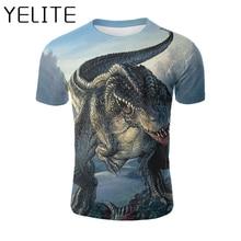YELITE Dinosaur 3D T Shirt Jurassic World T-shirts Summer Clothing Animal Cartoon Design Printed Tshirt Kids Baby Boys Tops