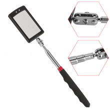 Auto LED Light Extendible Inspection Mirror Endoscope Car Chassis Angle View Automotive Telescopic Detection Tool Equipment(China)