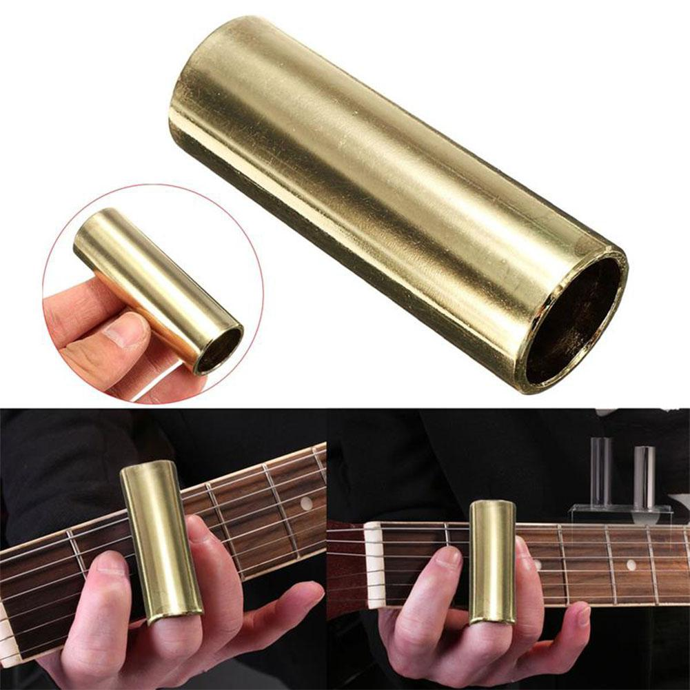 Guitar Bass Brass Slide Guitar String Finger Tube Slider 60/70mm For Strings Instrument Guitar Bass Ukulele Mandolin Parts