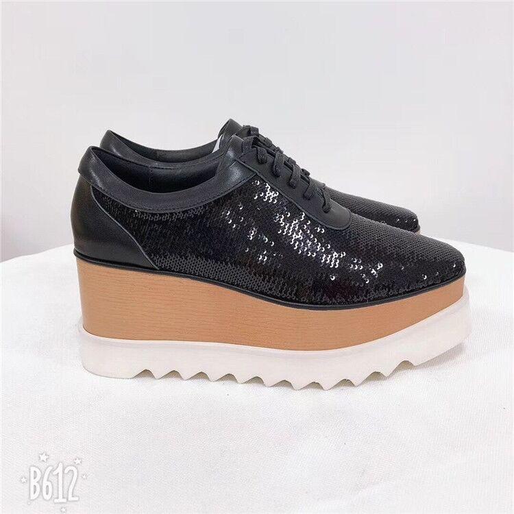 Semelles as Chaussures Compensées Plate forme Étanche Femme De Appartements Pic Lacets En Pic Femmes Haute Mujer Zapatos Chaude As Conception À Cuir 46qwqR