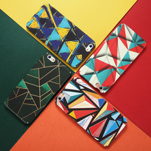KISSCASE Luxury Abstract Case For iPhone 7 8 Plus Phone Mondrian Colorful Hard PC X XS Max Xr 5s 6 6S