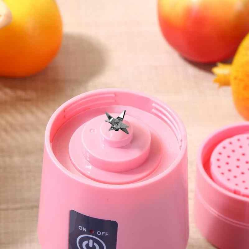 380ml Recarregável USB Portátil Liquidificador Misturador 6 Lâminas Vegetais Fruit Smoothie Espremedor de Suco De Frutas Cítricas de Limão Squeezers Dropshipping