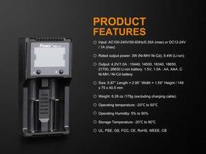 Image 5 - Fenix ARE A2 18650 3,7 v cargador de batería recargable + 12v DC