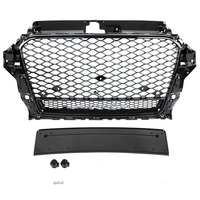 Car Front Grill Sport Hex Gloss Black Mesh Honeycomb Hood Grill for Audi A3/S3 8V 2013 2014 2015 2016 For RS3 Quattro Style
