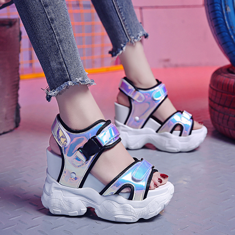 Platform-Shoes Sandals High-Heels Gladiator-Sneakers Fashion Summer Women Bling