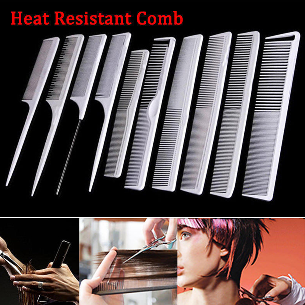 Hot Sale Mellow Tooth Professional Combs Hairdressing Brush Haircut Hair Salon Styling Barber Comb Kit 10 Types