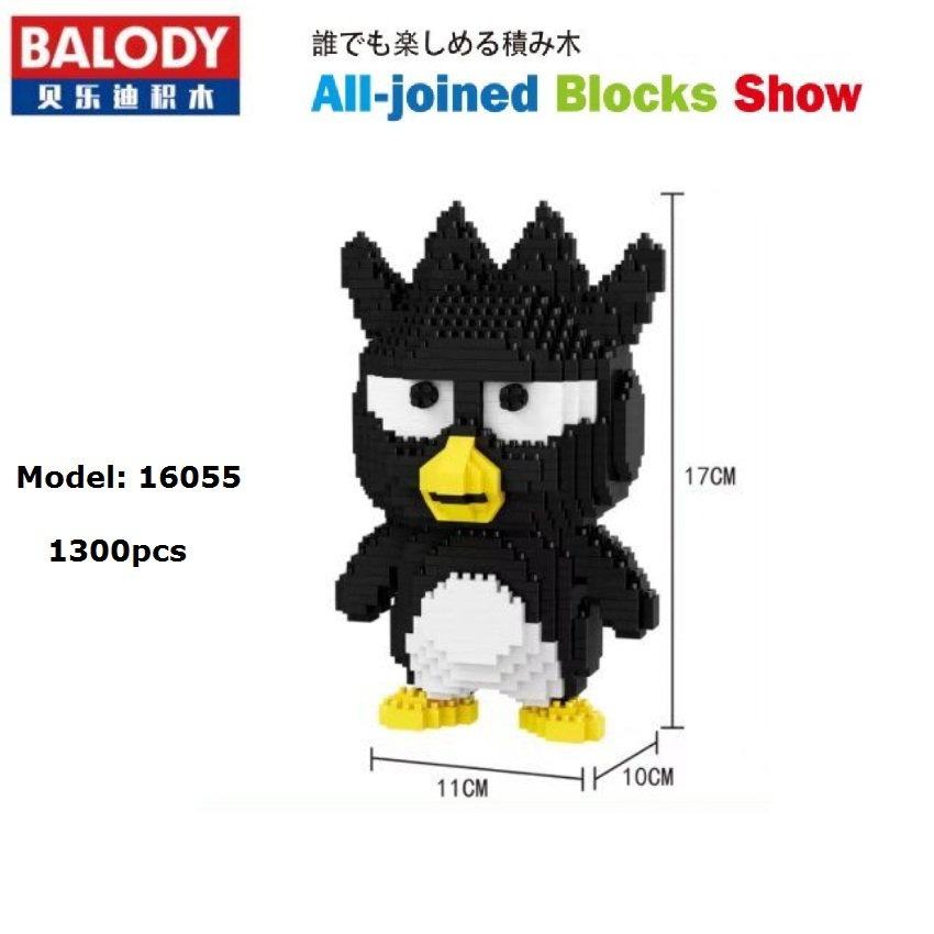 Balody mini Blocks Anime Model Plastic Building Toy Big size Cartoon penguin Figures Brinquedos for Children Toys Girls Gifts image