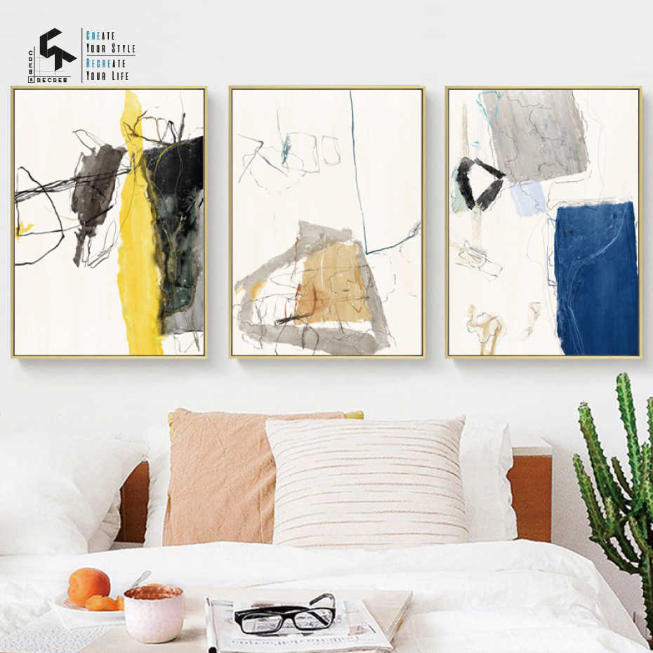 CREATE&RECREATE Nordic Poster Graffiti Abstract Posters And Prints Wall Art Canvas Oil Painting Decorative Pictures CR1810113013