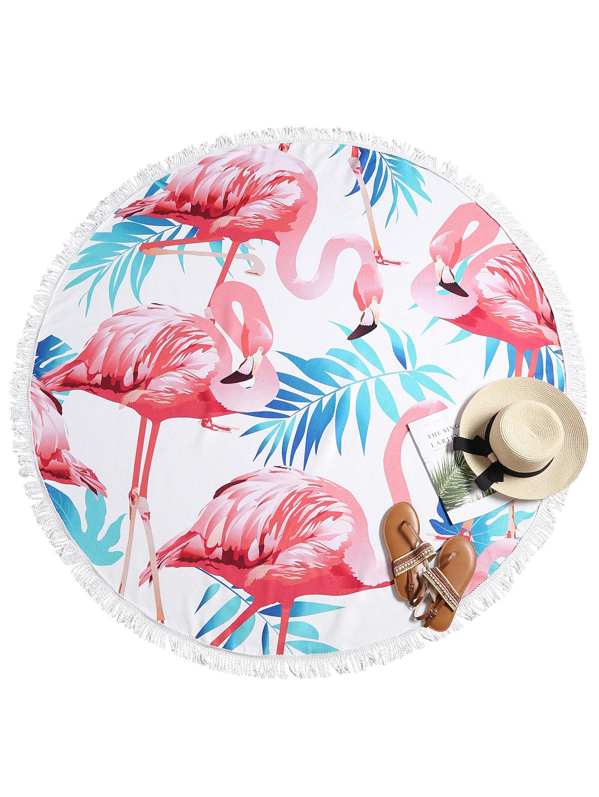 Flamingo Print Strandlaken Ronde Strandlaken Polyester Diameter 150 cm Voor Vrouwen
