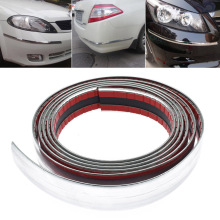 30mm 2.5m Exterior Car Chrome Auto Adhesive Strip Trim Tape Molding Styling Decoration Car Bumper Strip Protector Sticker