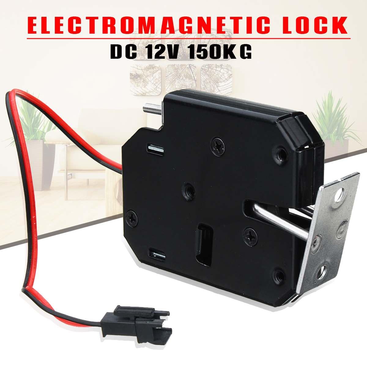 12 V 2a Elektro Magnetic Lock 150 Kg/330lb Fail Safe Haltekraft Elektromagnetische Tür Access Control System Schrank Boxen Wasserdicht, StoßFest Und Antimagnetisch