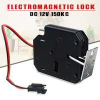 12V 2A cerradura magnética eléctrica 150 KG/330lb fuerza de retención a prueba de fallas electromagnética Sistema de Control de Acceso cajas de gabinete