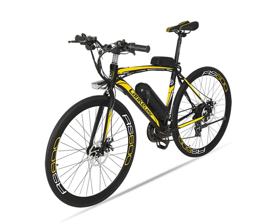 Elektrische Fahrrad 36V Zwei Räder Elektrische Fahrrad Bürstenlosen Motor 240W Carbon Stahl Ebike 28 Zoll Erwachsene Elektrische Roller