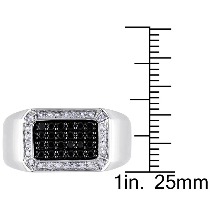 Visisap Fashion Black Zircon Geometric Finger Rings for Women Men Punk Gothic Party Ring Dropshipping Fashion Jewelry B607 in Rings from Jewelry Accessories