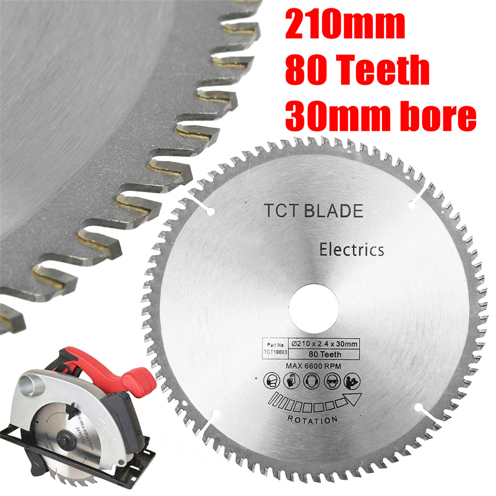 210*30mm 80T TCT New Circular Saw Blade HSS Cutting Disc With Reduction Rings For Bosch Makita Festool Other Circular Saw