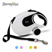 Benepaw Premium 8M Dog Leash Retractable Automatic Medium Large Pet Leash And Poop Bag With Removable Holder Pet Supplies Lead