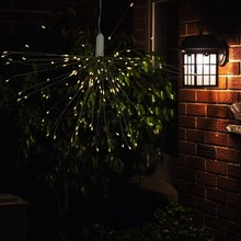 Solar Powered Firework String Light 100LEDs Copper Wire Fairy Light Decor Led Curtain Light for Home Party Holiday Lamp(China)