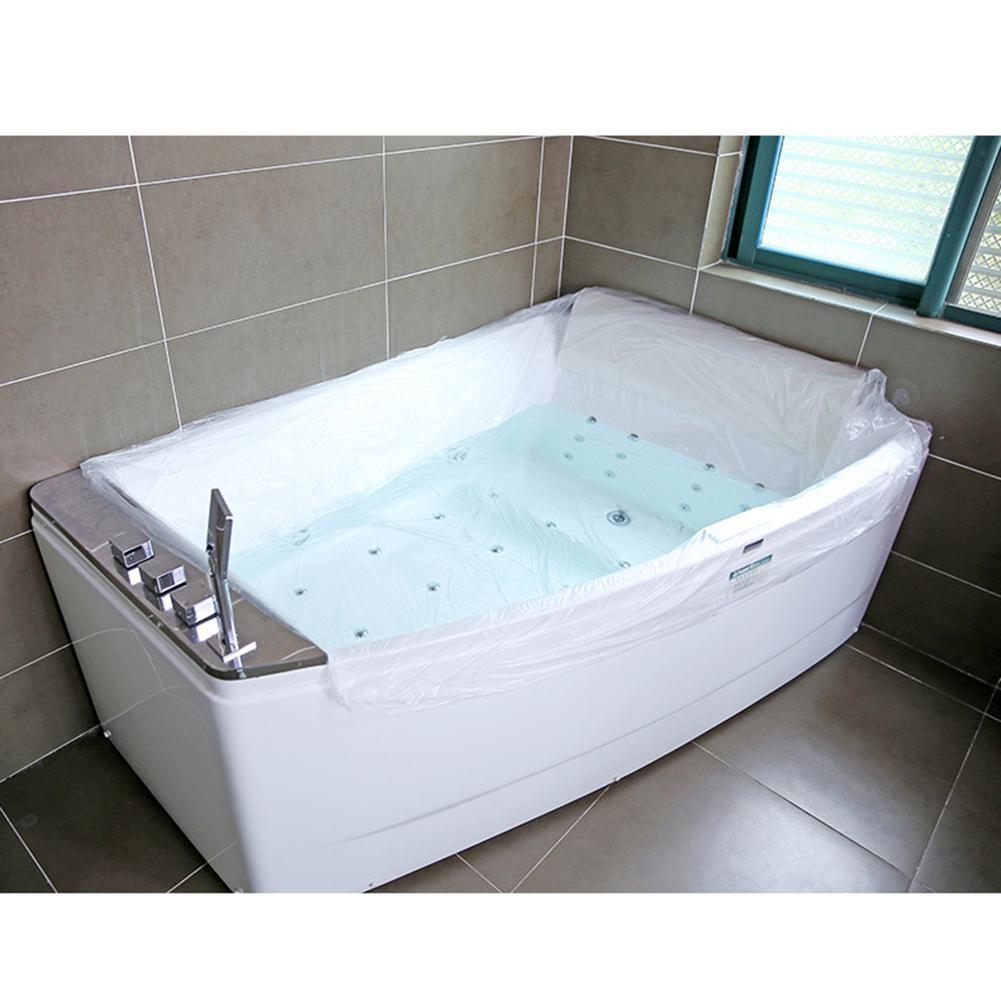 Large Disposable Travel Bathtub Cover Folding Inflatable Adults Bath Tub Bag Baby Swimming Plastic Bag Baby Bath Tub Cover Hotel