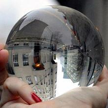 Прозрачный стеклянный хрустальный шар целебная Сфера фотография Реквизит подарки 30-50 мм x 1