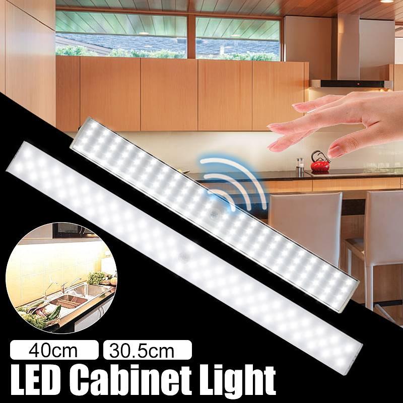 Mising 20LEDs Under Cabinet Lights Portable Wireless Motion Sensor Closet Under Cabinet Night Light Lamp
