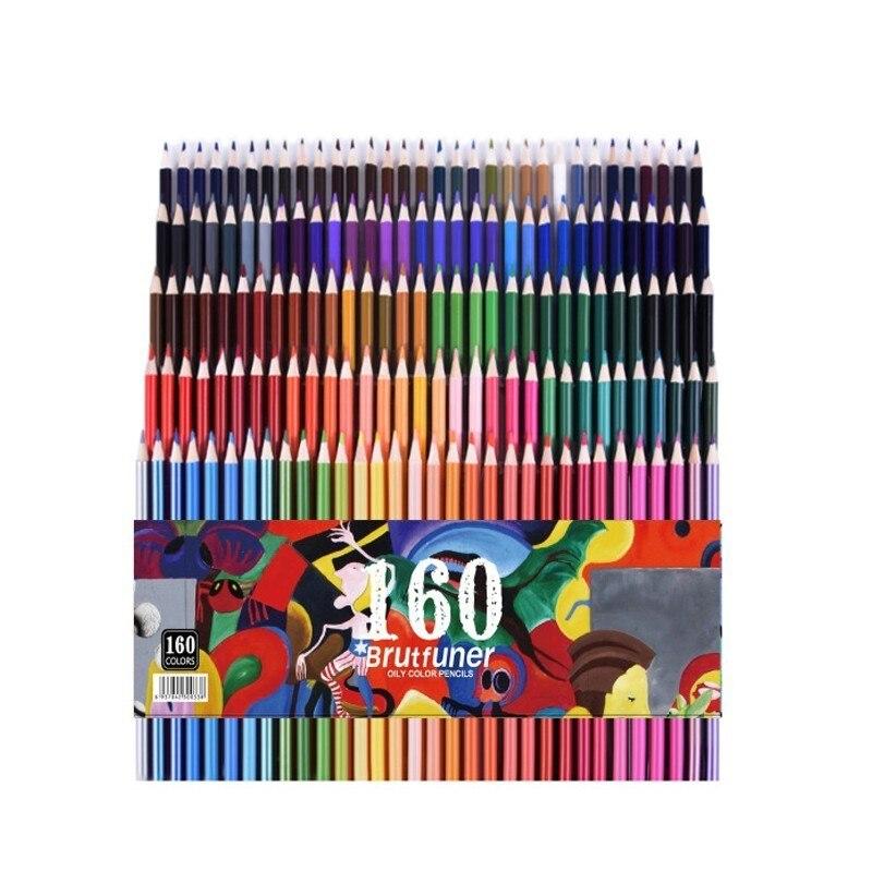 CHENYU 120/160 couleurs bois huile crayons de couleur ensemble artiste peinture pour dessin croquis école cadeaux Art Supplie livraison directe