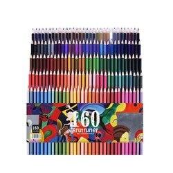 Chenyu 120/160 cores de madeira óleo colorido lápis conjunto artista pintura para desenho esboço escola presentes arte supplie dropshipping