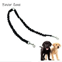 New Double Dog Leash Elastic Buffer Walking The Dogs Leashes Nylon Durable Leads For 2 Twin Splitter Products