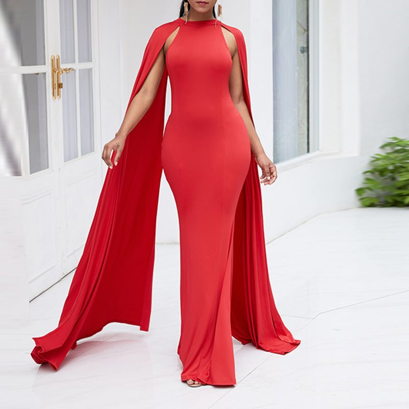Elegant Party <font><b>Sexy</b></font> Club Retro Women Long Pencil <font><b>Dresses</b></font> Evening Plus Size Summer <font><b>Red</b></font> Bodycon Cap Sleeve Zipper Female Maxi <font><b>Dress</b></font> image