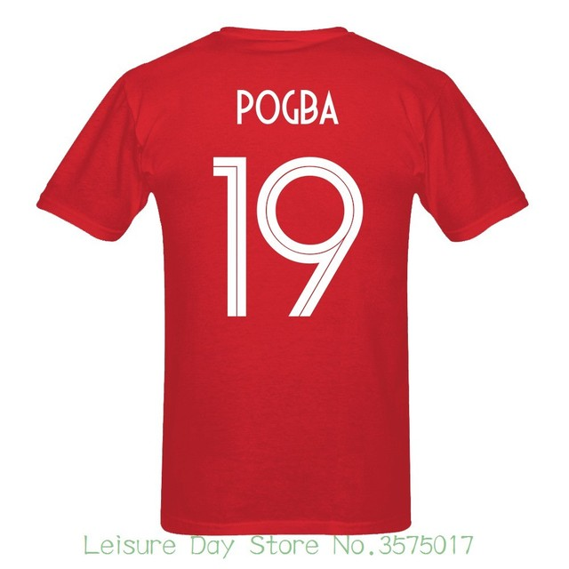 f08f17843 2018 Newest France Pogba Number 19 Russia World Match Cup 10 Colors T Shirt  Mens Fans