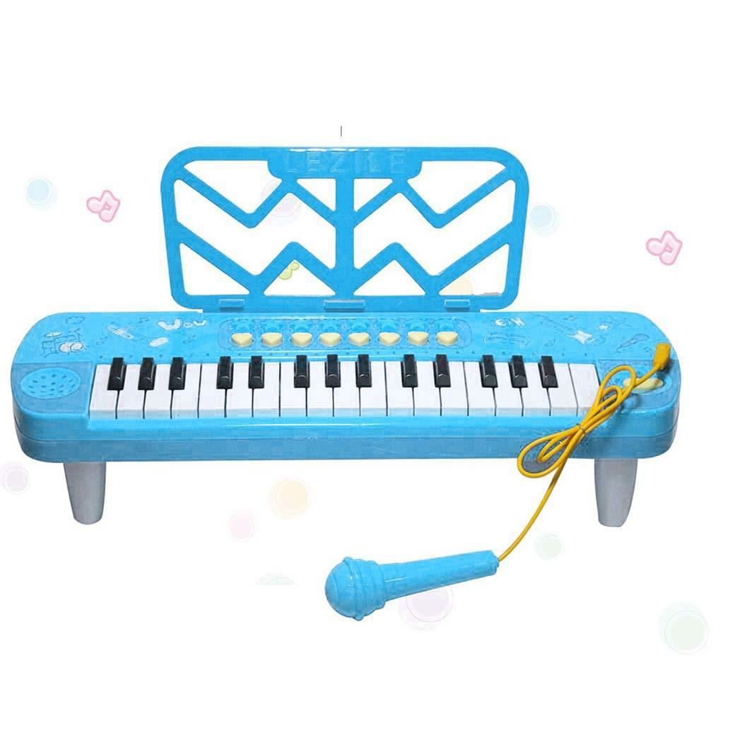 Kids Children Puzzle Early Education 37 Keys Piano Keyboard Over Years Old Musical Instrument Toys Battery