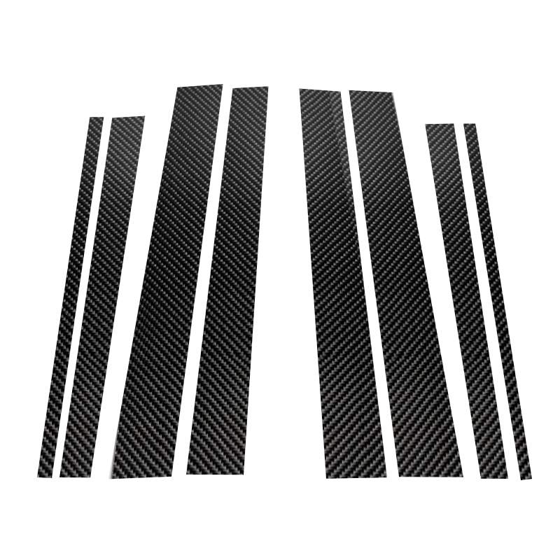 Image 2 - For Mercedes Benz C E GLC GLK GLA Class 2015 2016 2017 2018 Carbon Fiber Car Window B Pillar Exterior Molding Decor Cover-in Styling Mouldings from Automobiles & Motorcycles