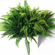 1 шт./компл. искусственный реалистичный большой нефролепис возвышенный зеленого цвета завода травянистое украшение для дома