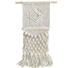 Handmade Macrame Hanging Wall Tapestry Wedding Ceremony Backdrop Wall Art Wedding Decoration Home Living Room