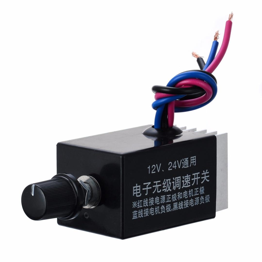1 шт. универсальный двигатель постоянного тока автомобильный переключатель регулятора скорости 12 в 24 В тепловентилятор контроль дефростер регулятор вентилятора для управления нагревателем