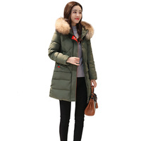 Short Down Jacket Hooded Womens Girls Winter Coats Snow Parka White Duck Down Padded Thicken Warm Outerwear Overcoat 2018