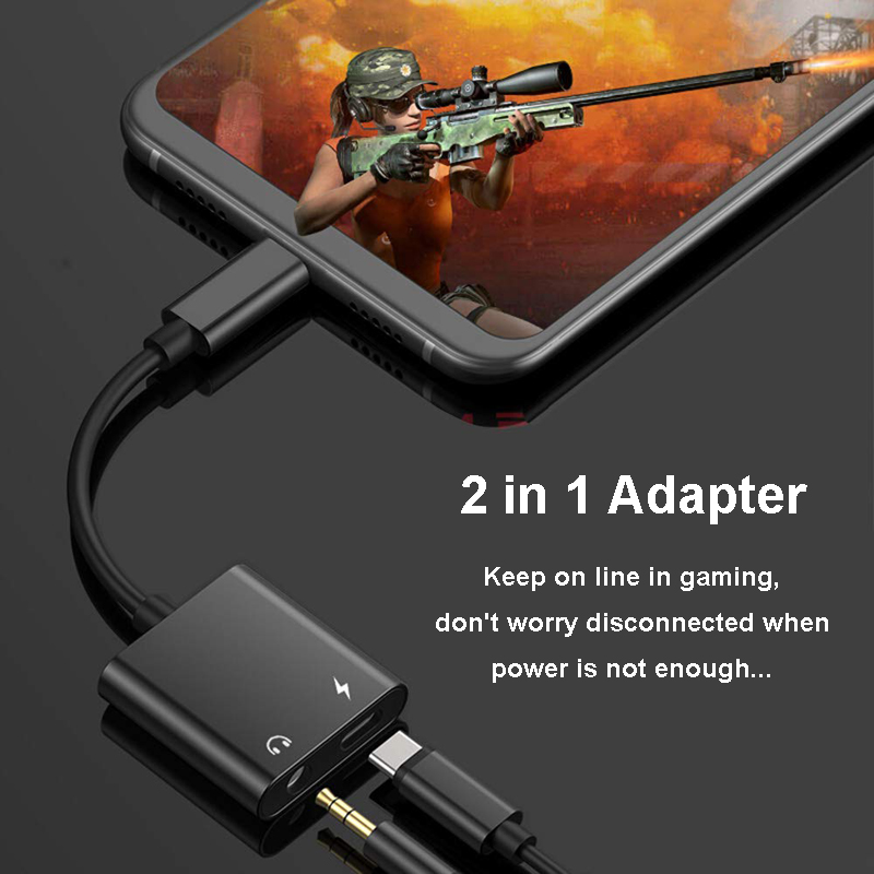 Image 2 - 2 in 1 USB C 3.5mm Adapter Type C to 3.5mm Adapter PD3.0 Charging for Google Essential Huawei U11 S8 S9 HTC Macbook Chrom G6 V20