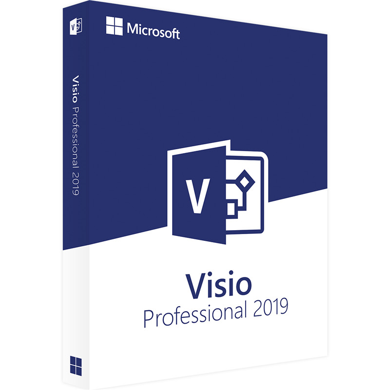 Microsoft Office Visio Professional 2019 For Windows Digital Delivery License 1 User-in Office Software from Computer & Office