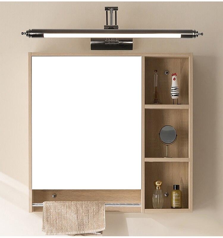 Europeu espelho espelho do banheiro conduziu a luz do farol lâmpada retrátil lâmpada de parede pia do banheiro maquiagem CL0420 arandelas de parede lâmpada