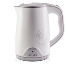 Чайник электрический Galaxy GL 0301 белый (Мощность 2000 Вт, объем 1.5 л, материал - пластик, вращение 360°)