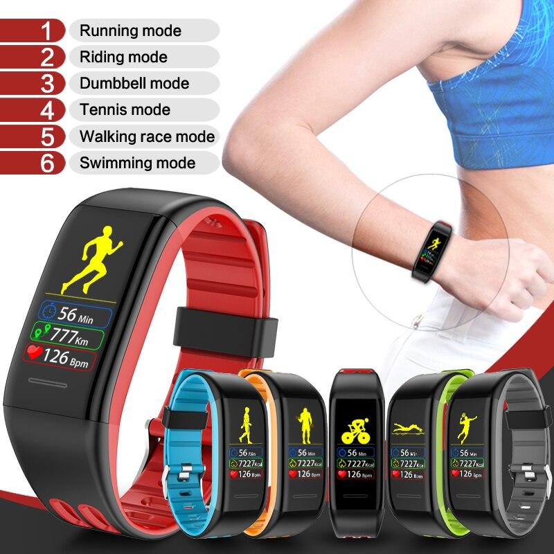Montre intelligente noir T30 surveillance de la fréquence cardiaque Bluetooth sport Mode Fitness Tracker Bracelet sommeil podomètre IP68 montre étanche
