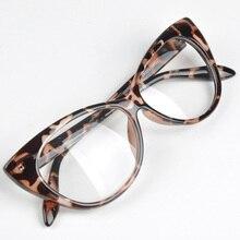 Лидер продаж, модные черные женские очки кошачий глаз в ретро-стиле, прозрачные линзы, винтажные очки