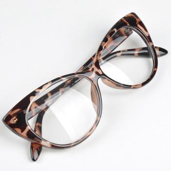 Top Designer Hot Selling Cat oko okulary retro moda czarne kobiety okulary rama Clear obiektyw Vintage okulary okulary tanie i dobre opinie Moonar (Księżyc) Plastikowe Stałe HM458 Ramki Akcesoria do okularów