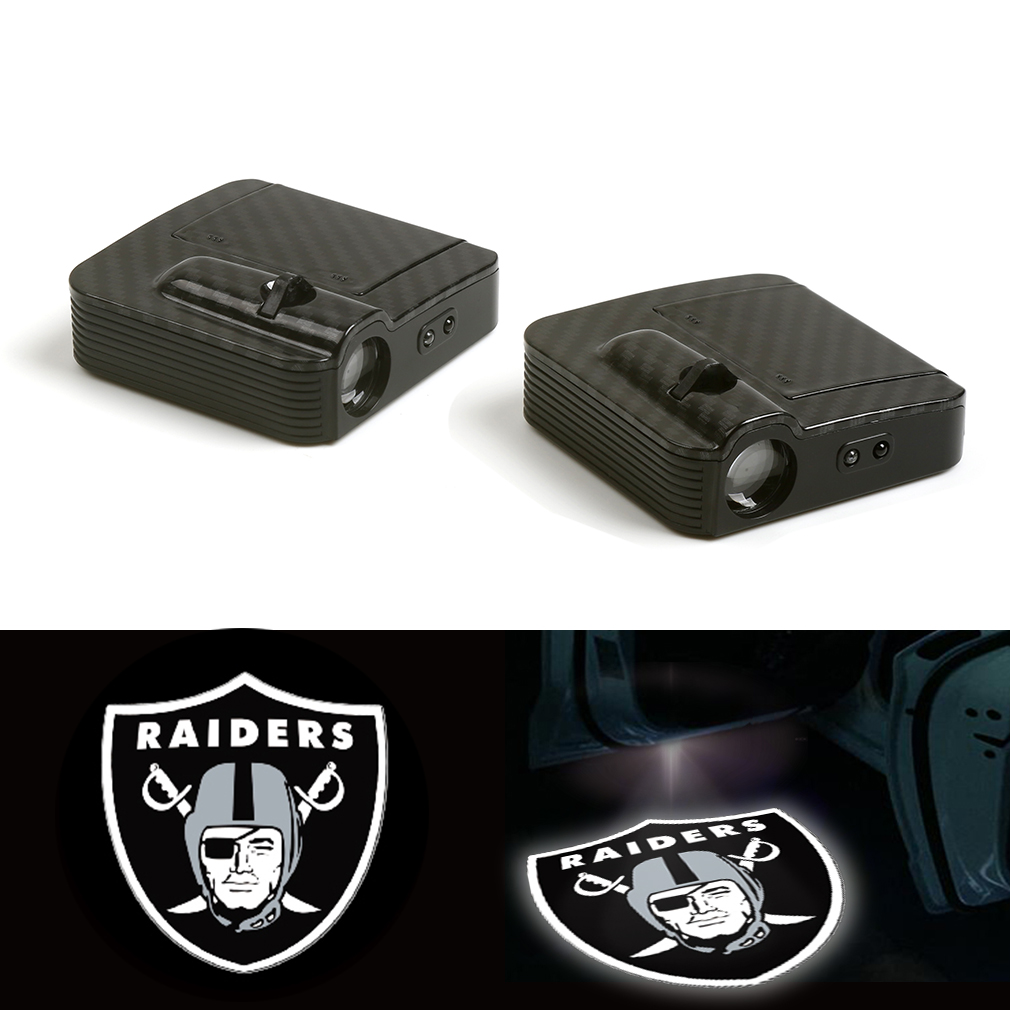 New Fit For Oakland Raiders Logo Car Door Wireless LED Ghost Laser Projector Shadow Light 12V PairNew Fit For Oakland Raiders Logo Car Door Wireless LED Ghost Laser Projector Shadow Light 12V Pair
