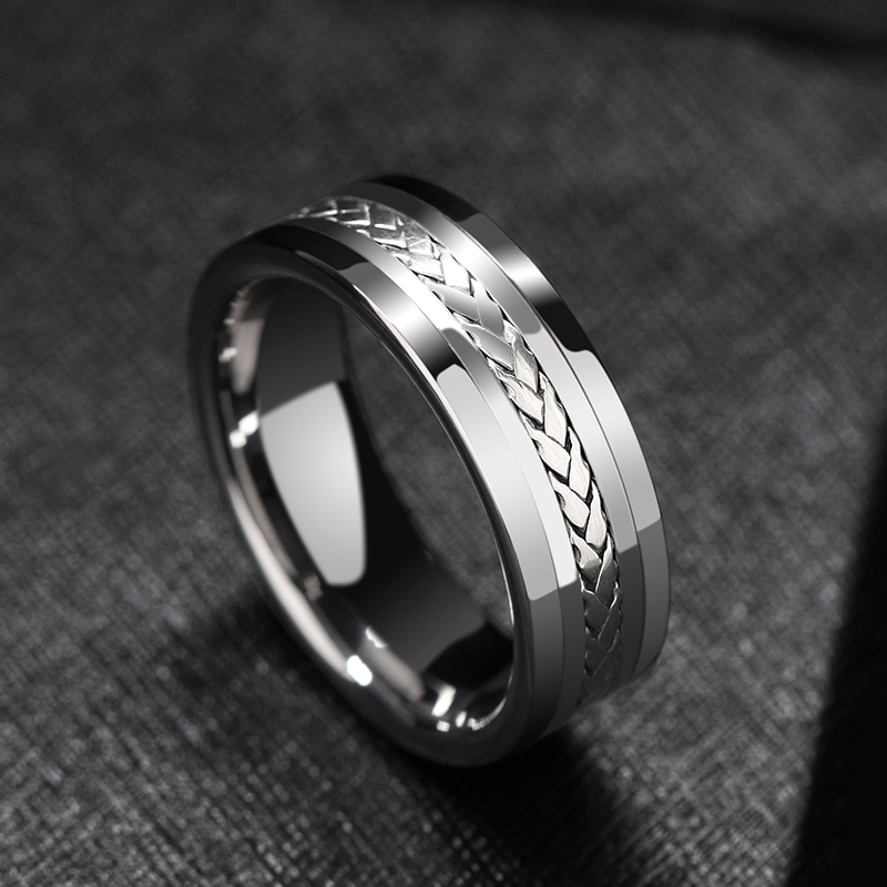 Tungsten Carbide High Polish Comfort Fit Flat Band Rin